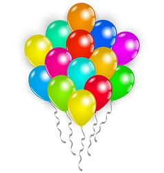 Set colorful balloons on white background vector