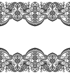 Card with lace vector