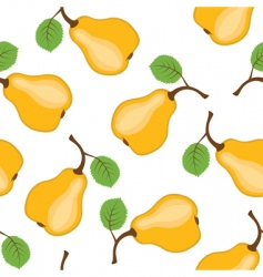 Pear seamless background vector