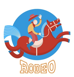Rodeocowboy on horse vector