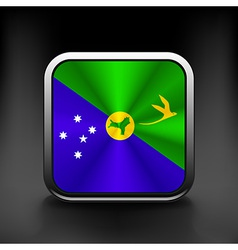 Christmas islands flag national travel icon vector