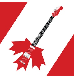 Canadian rock guitar vector