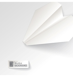 Paper airplane origami vector