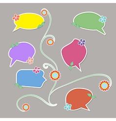 Book speech bubble symbol set vector