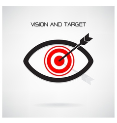 Vision and target concept eye symbol vector