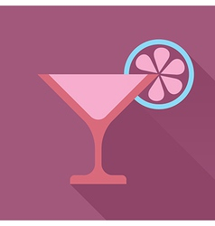 Martini glass with shadow vector