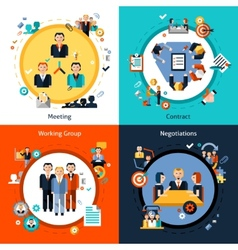 Business meeting set vector