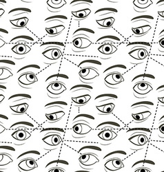 Seamless pattern with eyes vector