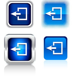 Exit icons vector