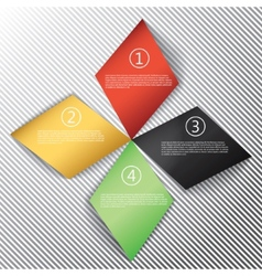 Modern business rhombus origami style options vector