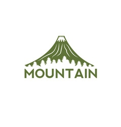 Abstract volcano with pines design template vector