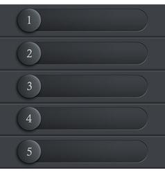 Black stylish design website layout vector