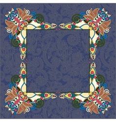 Floral frame ethnic ukrainian ornament vector
