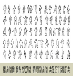 Hand drawn 70 human sketches vector