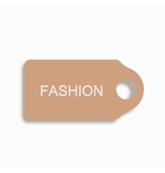 Modern shopping icon on white background vector