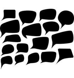 Speech silhouette set vector