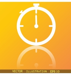 Timer icon symbol flat modern web design with vector