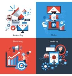 Advertising marketing set vector