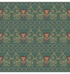 Seamless pattern reminiscent of ancient rome vector