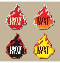 Hot deal stickers vector