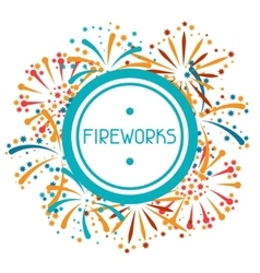 Background with abstract fireworks and salute vector
