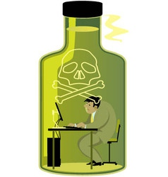 Toxic work environment vector