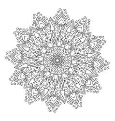 Hand drawing zentangle mandala element vector