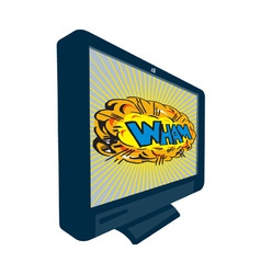 Lcd plasma tv television wham vector