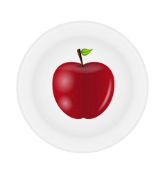 Sweet tasty apple on plate vector