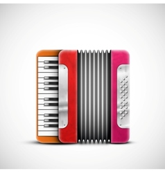 Colorful accordion vector