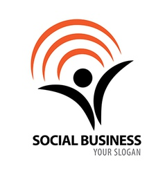 Social business icon vector