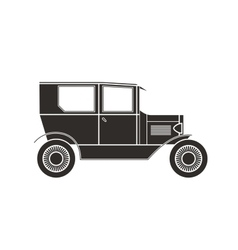 Retro car vintage collection vector