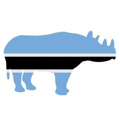 Botswana black rhino vector