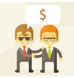 Concept of successful partnership money vector