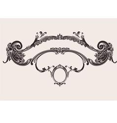 Royal vintage curves banner vector