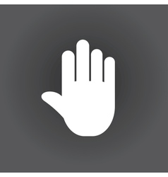 Stop icon hand vector