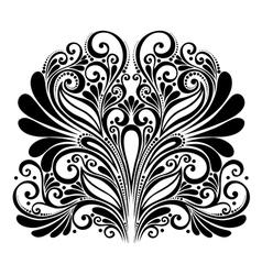 Deco abstract symmetric element vector