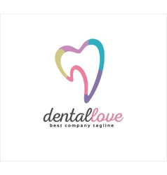 Abstract dental logo icon concept logotype vector