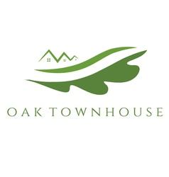 Concept of oak townhouse vector