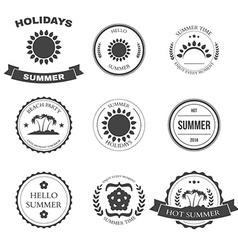 Summer design elements and typography design vector