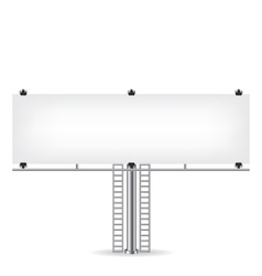 Blank metal billboard vector