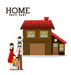 Sweet home design vector