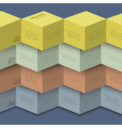 Origami style design template for infographics vector