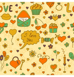 Stylish romantic seamless pattern in on a beige vector
