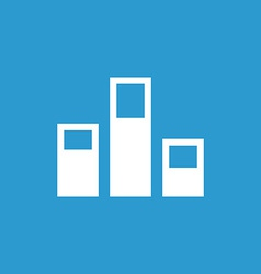Levels icon white on the blue background vector