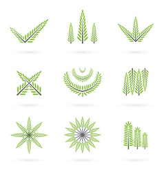 Green symbol design vector