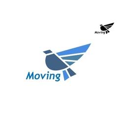 Blue pigeon icon vector