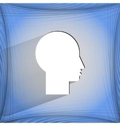 Man silhouette profile picture flat modern web vector
