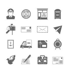 Post service icon black vector