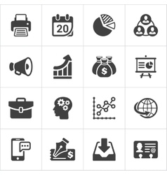 Trendy business and economics icons set 2 vector